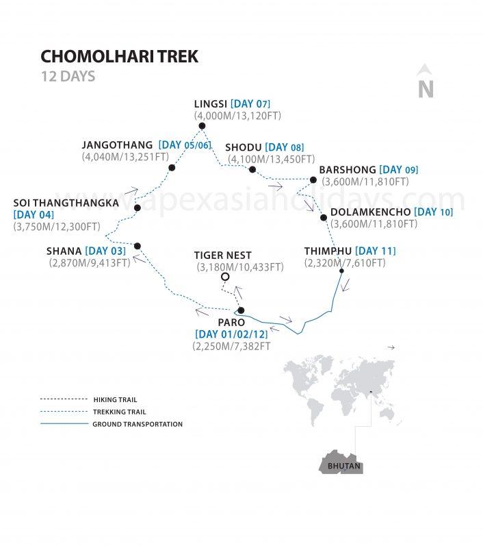 Chomolhari-Trek_Detailed_Map