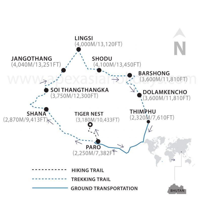 Chomolhari_Trek_Thumbnail_Map
