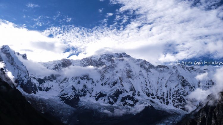 Annapurna Himalaya Range seen from the trail to Annapurna Base Camp Trek - Annapurna Circuit Trek