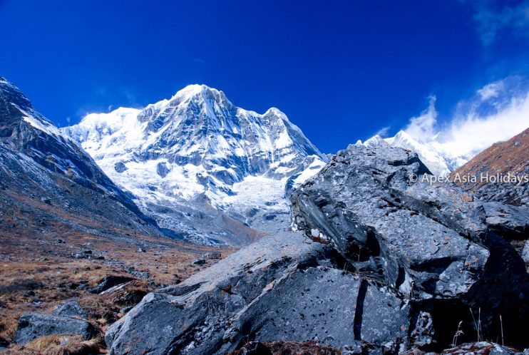 Mountain Annapurna South Seen along the Annapurna Trekking Region