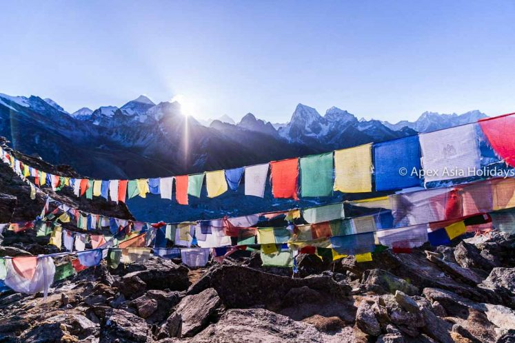 View from Chola Pass in Everest Gokyo Trekking with Apex Asia Holidays