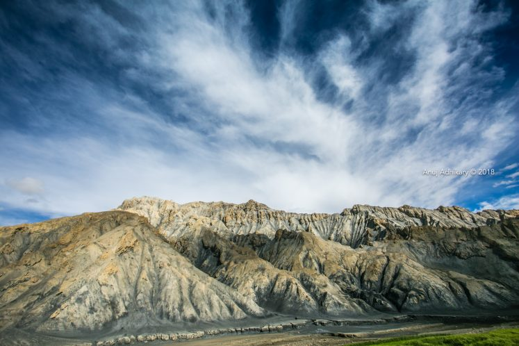 Eerie Mountain in Upper Mustang Trek