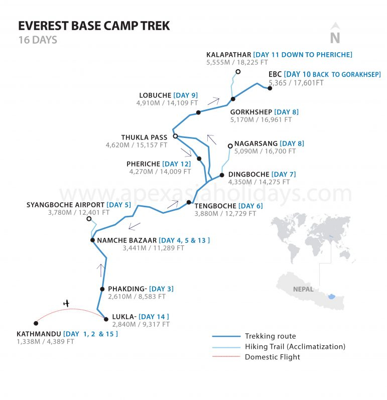 Everest Base Camp Detailed Map
