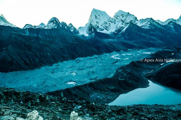 Gokyo Third Lake with Himalayan View from Gokyo Ri with Apex Asia Holidays
