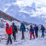 Guide-Gyanu-leading-the-group-in-Everest-region-for-Gokyo-Valley-To-Everest-base-Camp