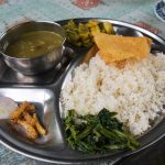 Local Dal Bhat in the Trekking route of Nepal. - Annapurna Circuit Trek