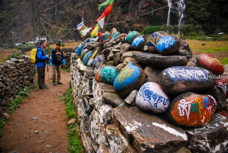 Mane wall along the Annapurna Trekking Region- Annapurna Circuit Trek