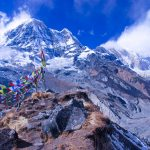 Mount Annapurna South seen from Annapurna Base Camp trek