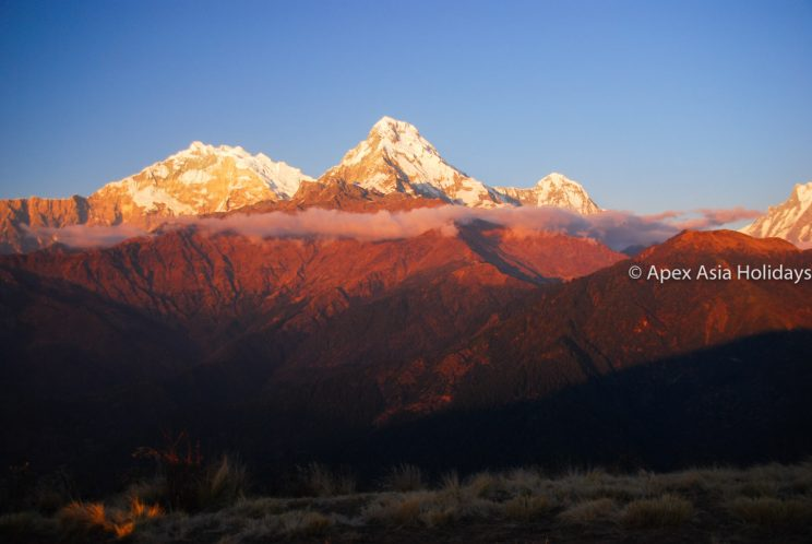 Mt. Annapurna south from the top of Poon Hill in the Poon Hill trekking