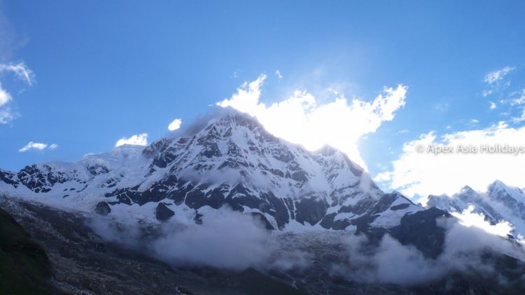 Stunning Mount Annapurna view along the Annapurna Base Camp Trekking
