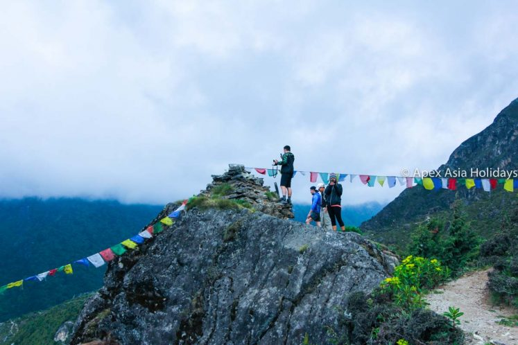 Trekkers are enjjyoing along Everest Trekking Region