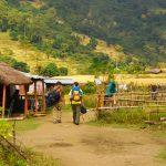 Trekking Guide Narayan Thapa leading the trekkers in Annapurna Circuit Trek- Annapurna Trekking Region