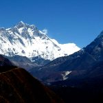 Mount Amadablam along the Everest Base Camp trek. In Between Namche Bazar and Tengboche.