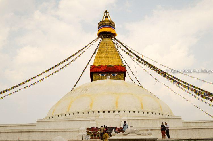 Boudhanath Stupa at Boudhha- It is a most popular spots for kathmandu sightseeing