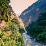 Budhigandaki Gorge along the Manaslu Circuit Trek- Larke Pass