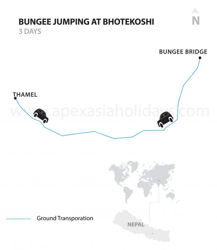 Bungee-Jumping--Bhotekoshi-Detailed-map