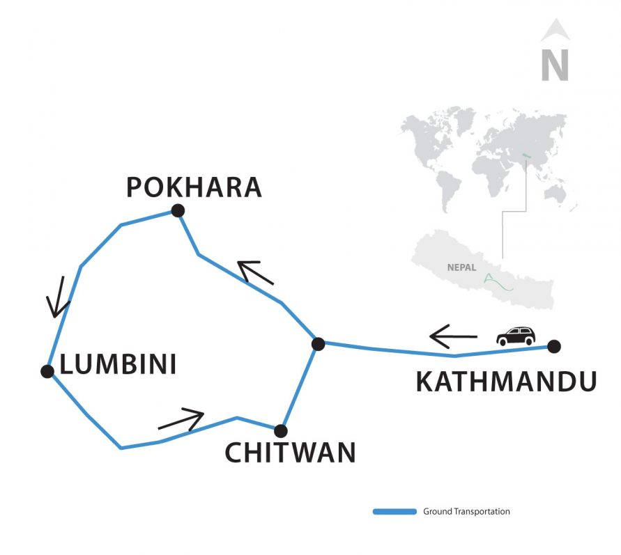 A brief map of Educational Tour Nepal Thumbnail