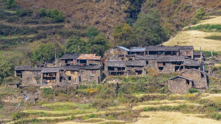 Gurung Village along the Manalsu Trek with Apex Asia Holidays