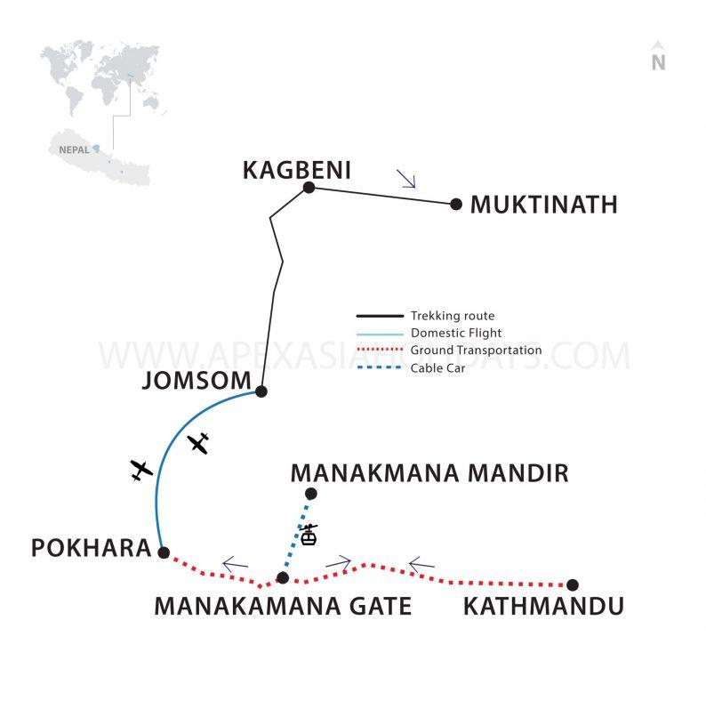 Hindu Pilgrim Tour Thumbnail Map by Apex Asia Holidays