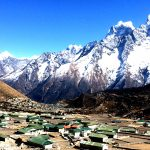 Kumjung Village seen from the trail of Everest Panorama Luxury Trek