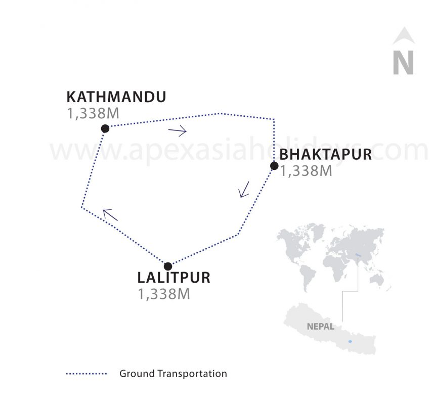 The thumbnail map of Luxury Tours in Nepal by Apex Asia Holidays