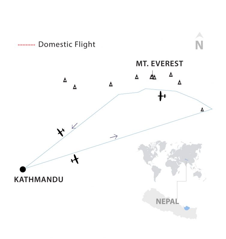 Moutain Flight Thumbnail Map by Apex Asia Holidays