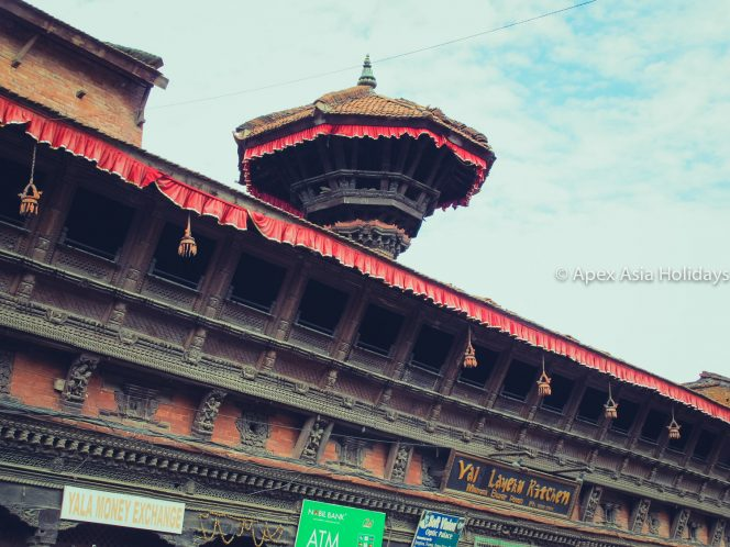 Patan Durbar Square area singhtseeing in Nepal