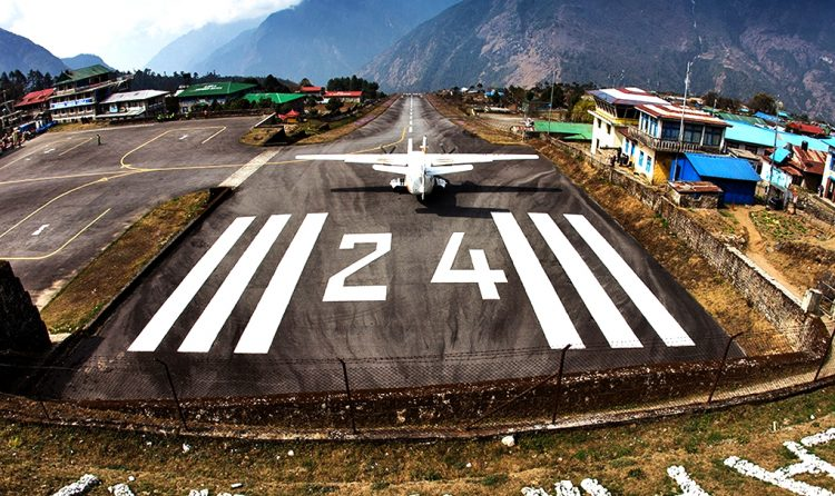 One of the dangerous airport in the world. Lukla. Everest Panorama Luxury Trek with Apex Asia Holidays