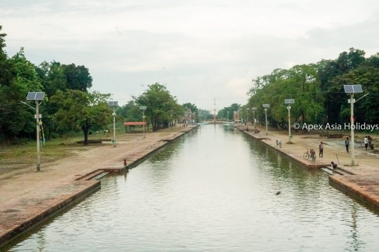 Water cannel in the Lumbini Buddhist Pilgrim site in Nepal