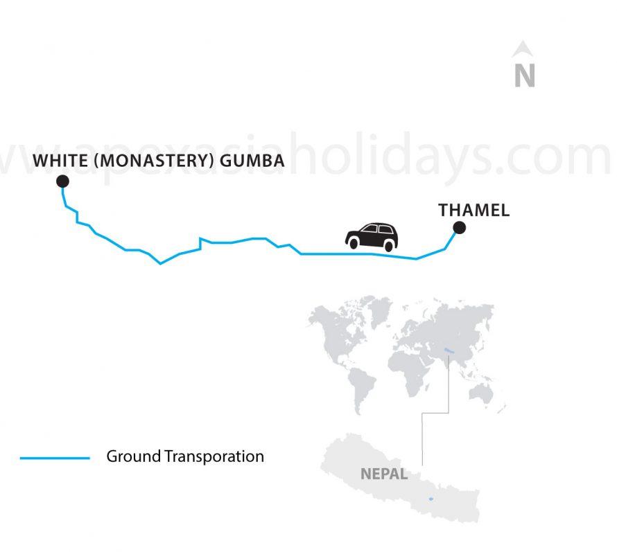 White-Gumba-Tour-white-monastery-Kathmandu--Detailed-Map