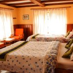A bed room of Yeti Mountain Home in Namche. Everest Panorama Luxury Trek with Apex Asia Holidays