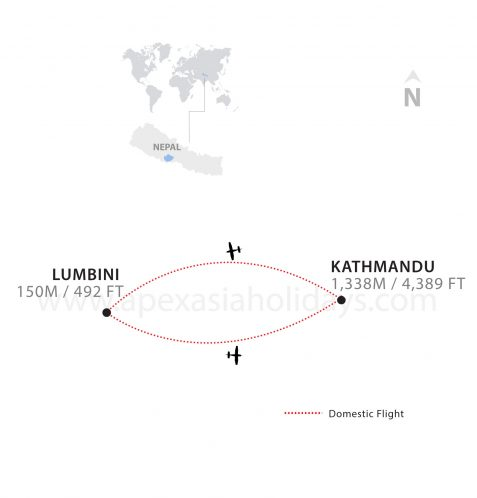 A thumnail map of Lumbini Tour by Apex Asia Holidays