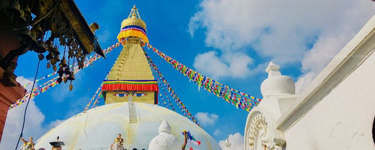 Bouddha Stupa in Nepal. Let's have a tour with Apex Asia Holidays