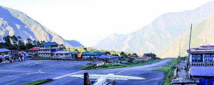 Tenzing Hilary Airport, at Lukla.