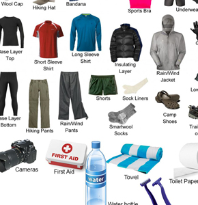 What are the equipment that we need to bring for the trek