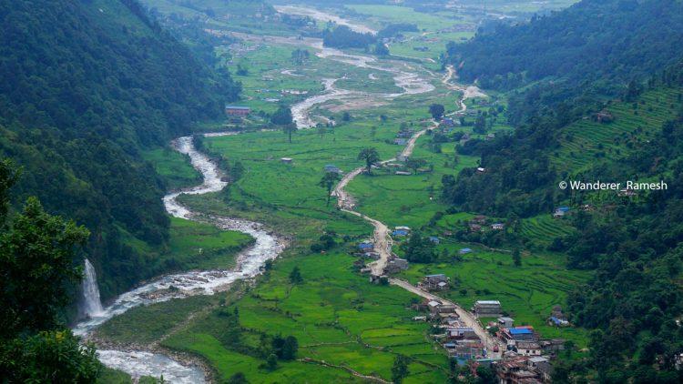 Awesome Valley en route Lwang Ghalel Village in Mardi Himal Trek