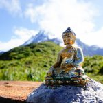 A statue of Lord Gautam Buddha enroute of Machhapurchhre Himal and Mardi Himal Base Camp Trek