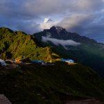 Machhapurchhre Himal from the High camp of Mardi Himal Trek