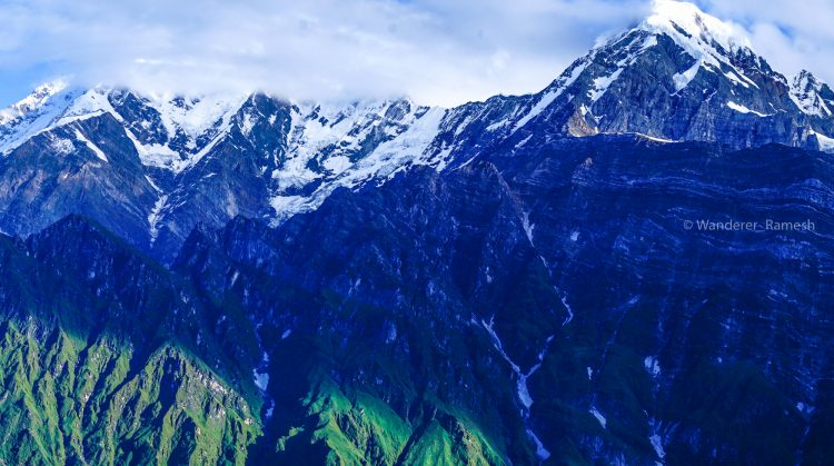 Mount Annapurna and Hiuchuli seen from Mardi Himal upper view point