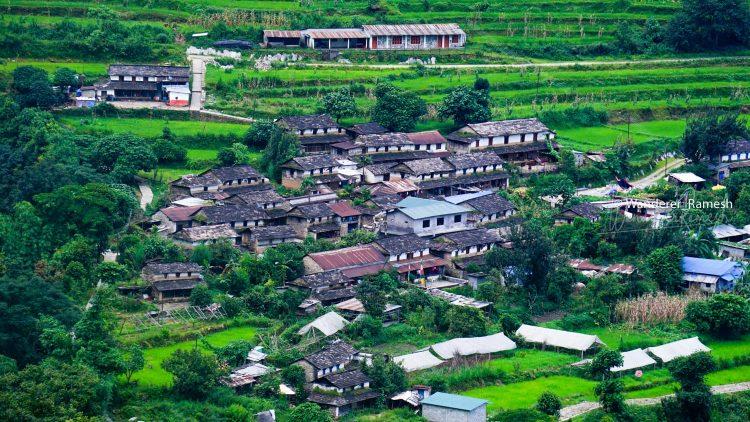 Beautiful Village along the Mardi Himal Trek through the Lwang Ghalel Siding Trail