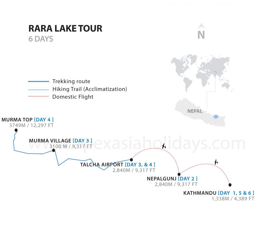Rara-Lake-5-Days-Detailed-Map