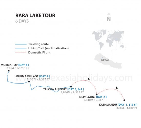 Rara Lake Tour Thumanail Map