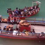 Boating in Pokhara during the Educational Tour