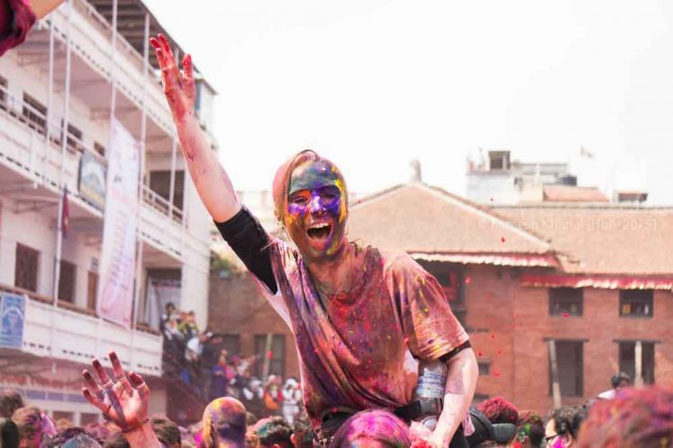 Holi Festival Photography Tour in Nepal